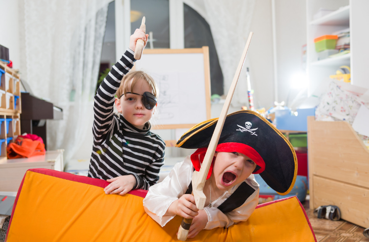 kids in pirate costumes