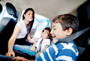 traveling with children in the car