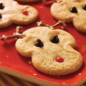 Reindeer Christmas Sugar Cookie