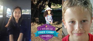 "ActivityHero's May ""Free Week of Summer Camp"" Giveaway Winners"