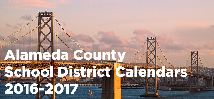 Alameda County School District Calendars 2016-2017
