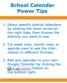 School Calendar Power Tips