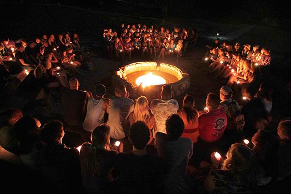 overnight camp campfire