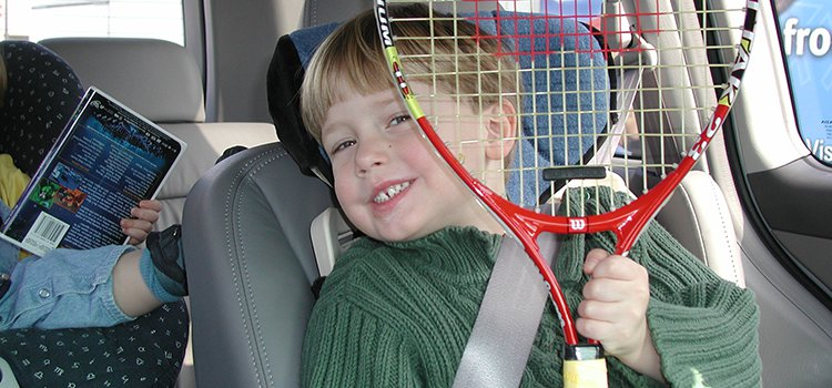 Discovering an early love of tennis