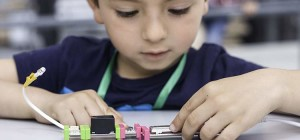 Maker kid engaged in an activity
