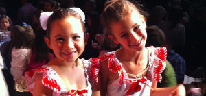 kid dancers getting ready to perform