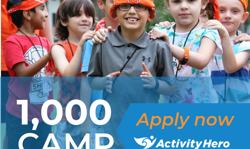 Over 1,000 Summer Camp Scholarships Available Through ActivityHero's Camp & Class Marketplace
