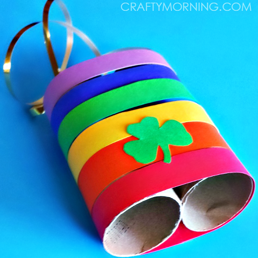 St. Patrick's Day Crafts for Kids - Leprechaun Binoculars - ActivityHero