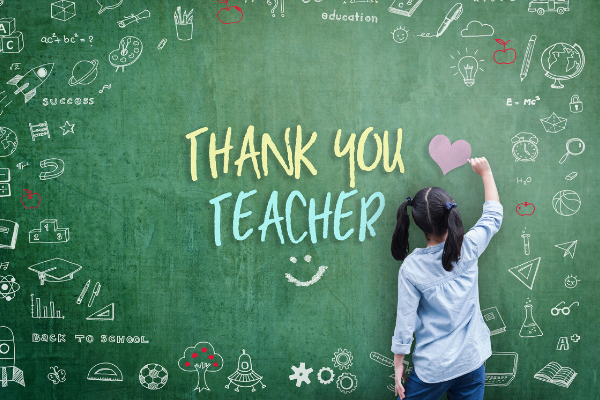 Virtual Teacher Appreciation Week - Ways to say thank you to your teachers from a distance during COVID-19.