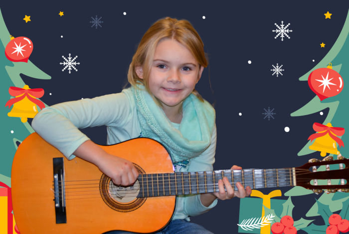 Holiday Gift Guide for Kids - a guitar and online lessons
