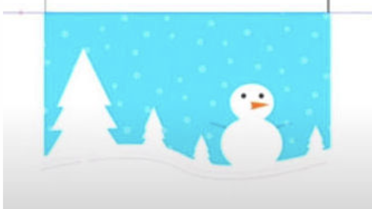 Learn inkscape by drawing a winter holiday card. On-demand art classes for kids.